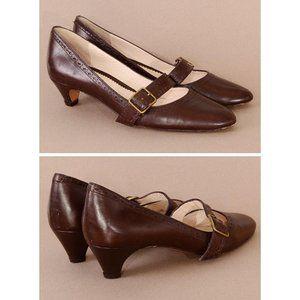 Vintage LuLu Guinnes Leather Kitten Heel Maryjanes